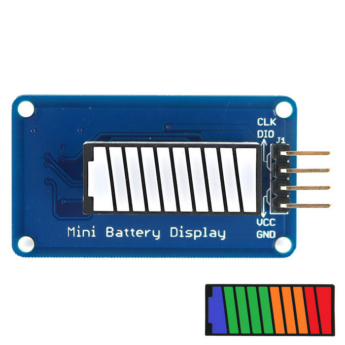 Buy Battery Style Digital Tube LED Battery Level Display Module 4-color 10-segment LED Bar for Arduino with Litecoins with Free Shipping on Gipsybee.com