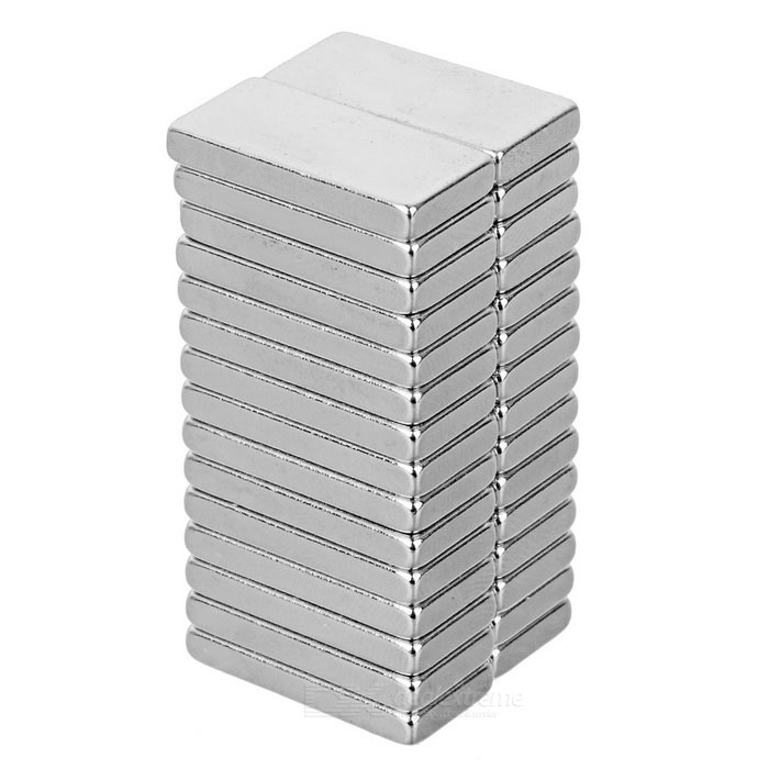 Rectangular Strong 20x10x3mm NdFeB Magnet - Silver (30PCS)Magnets Gadgets<br>Form ColorSilverMaterialNdFeBQuantity30 PieceNumber30Suitable Age 8-11 Years,12-15 Years,GrownupsPacking List30 x Magnets<br>