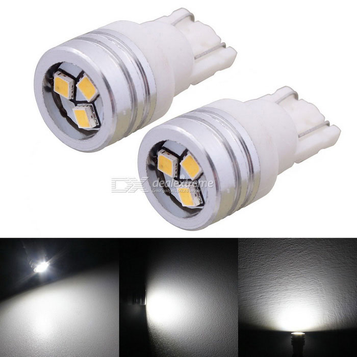 MZ 1W 150lm T10 3-2323 SMD 150lm vita LED Bil Clearance Lampor / registreringsskylt Light (DC 12V / Pair)