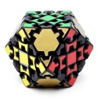 4cm Gear Puzzle Magic IQ Cube Educational Toy - Black + Golden + Multi-Colored