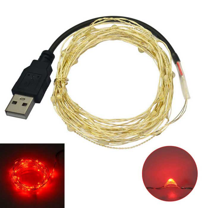 Buy Jiawen USB 5M Waterproof Flexible 3W 50-0603 SMD Red LED String Light with Litecoins with Free Shipping on Gipsybee.com