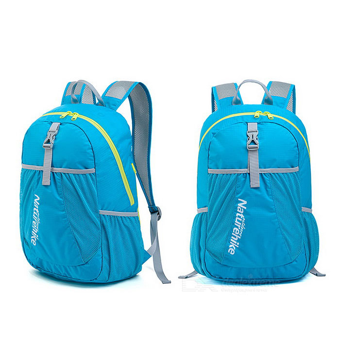 Buy NatureHike NH15A119-B Outdoor Portable Hiking Daypack Folding Backpack - Lake Blue (22L) with Litecoins with Free Shipping on Gipsybee.com