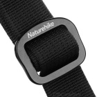 NatureHike Unisex Outdoor Tactical Quick-Dry Nylon Belt w/ Aluminum Alloy Buckle - Black (M / 115cm)