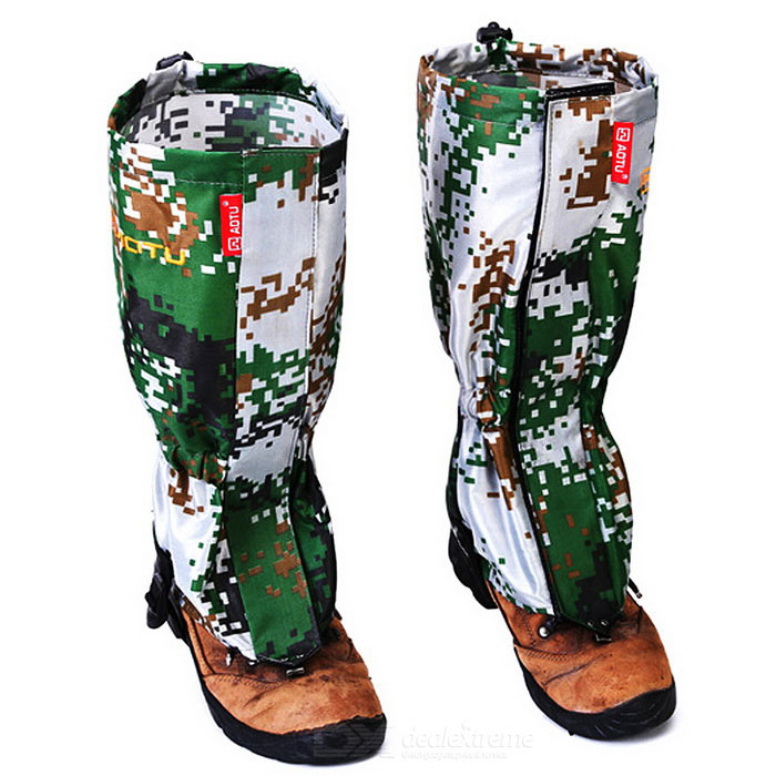 AoTu Outdoor Water-Resistant Warm Snow Shoes Cover Wrap Legging Gaiter - Camouflage (Pair)Leg Gaiters &amp; Leg Sleeves<br>Form  ColorAT CamouflageQuantity1 DX.PCM.Model.AttributeModel.UnitMaterial420D DacronBest UseFamily &amp; car camping,Mountaineering,Travel,CyclingTypeOthers,GaitersPacking List1 x Pair of gaiters<br>