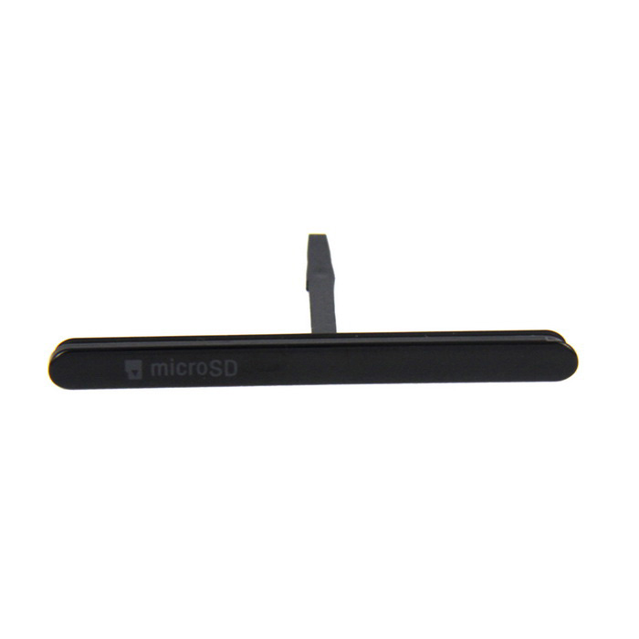 Micro SD Card Slot Port Dust Plug Cover for SONY Xperia M5 - Black
