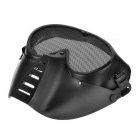 Fly Design Full Cover Mesh Ansiktsmask - Svart