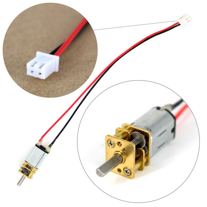 N20 DC 6V 150RPM Large Torque Gear Motor with XH2.54-2P Cable for Smart Car - Bronze + Silver