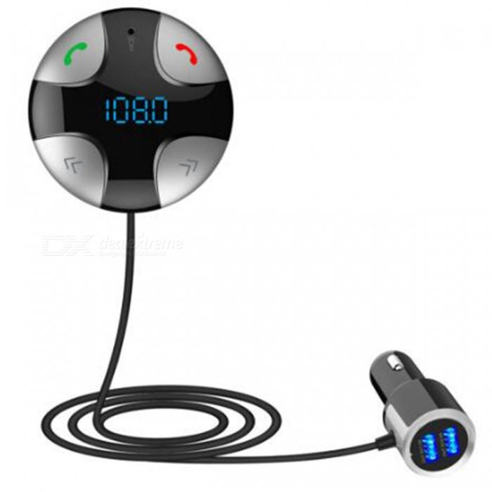 1 MP3 Player FM Transmitter USB Charger BT Car Kit - Black + SilverBluetooth Car Kits<br>Form  ColorBlack + SilverModel-Quantity1 DX.PCM.Model.AttributeModel.UnitMaterialABSScreen Size1 DX.PCM.Model.AttributeModel.UnitFunctionHandsfree,MP3 Player,FM Transmitter,Power Off Memory function,A2DPCompatible CellphoneIPHONE,Motorola,Blackberry,LG,Sumsang,Nokia,SonyEricsson,HTCPhonebook Capacity0Voice PromptNoBluetooth VersionBluetooth V3.0Transmit Frequency2.4 DX.PCM.Model.AttributeModel.UnitTransmit Distance10 DX.PCM.Model.AttributeModel.UnitMIC Effective Distance0~2 DX.PCM.Model.AttributeModel.UnitFM Frequency Range87.5~108MHzFM Transmit Distance5 DX.PCM.Model.AttributeModel.UnitFrequency Response20Hz~15KHzSNR&gt;60dBTHD0.1%Battery Capacity0 DX.PCM.Model.AttributeModel.UnitCharging Voltage0 DX.PCM.Model.AttributeModel.UnitTalk Time0 DX.PCM.Model.AttributeModel.UnitStandby Time0 DX.PCM.Model.AttributeModel.UnitCharging Time0 DX.PCM.Model.AttributeModel.UnitInterface/PortUSB 2.0,TF card slotExpansion Card  Capacity (Max.)32GBPacking List1 x Bluetooth Car Kit<br>