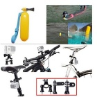 Head Chest Mount Floating Monopod Pole Accessories for GoPro Hero 1 / 2 / 3 / 4 - Black