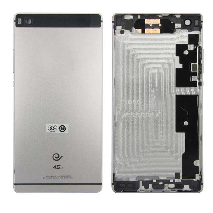 Back Housing Rear Battery Door Cover Case for CDMA Version Huawei Ascend P8 - GrayOther Parts<br>Form  ColorGreyMaterialMetalQuantity1 DX.PCM.Model.AttributeModel.UnitCompatible BrandHuaweiCompatible ModelsAscend P8Packing List1 x Back cover<br>