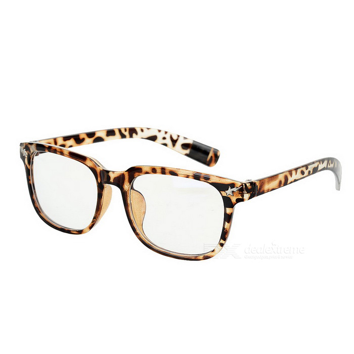 Buy Fashionable Unisex PC Frame PC Lenses Plain Spectacles Glasses Eyeglasses - Leopard Print with Litecoins with Free Shipping on Gipsybee.com
