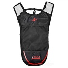 Outdoor Climbing / Cycling Shoulders Bag Backpack w/ Water Bladder Compartment - Black + Red (5L)