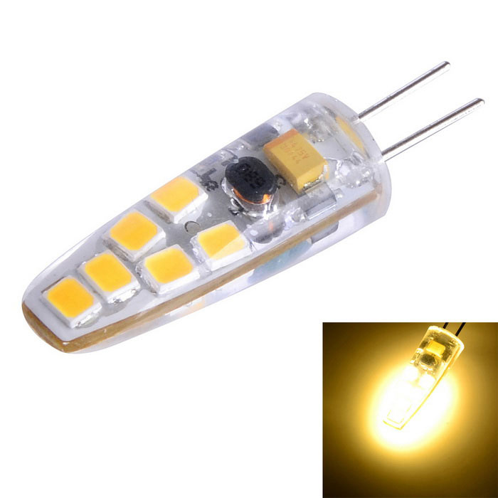 Dimmable G4 3W 200lm Warm White Light 12-2835 SMD LED Bulb (AC/DC 12V)