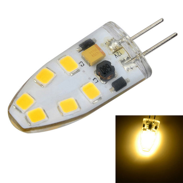 G4 Dimmable 3W 200lm 12-2835 SMD LED Warm White/Cool White Light Crystal Bulb 12V