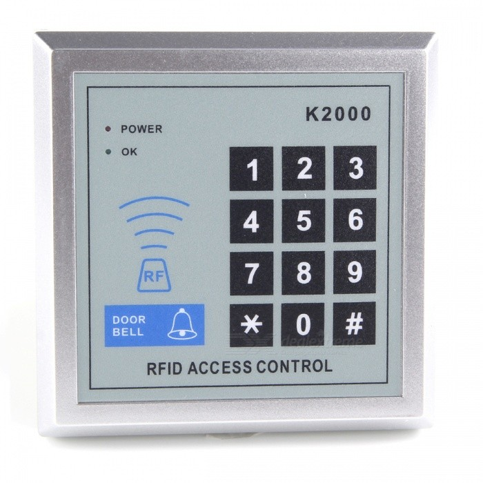 Electronic RFID Entry Door Lock Access Control System + 10 Key Fobs SC