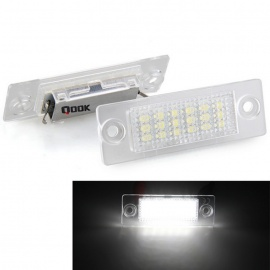 Qook-18-3528-SMD-LED-120lm-6500K-White-Number-License-Plate-Lights-Lamps-for-VW-Caddy-04-(2PCS)