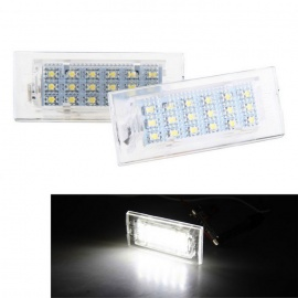 Qook-18-LED-6500K-White-License-Plate-Lights-Lamp-Bulb-for-BMW-E53-X5-1999-2006-Transparent-(2PCS)