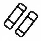 Silicone Fixing Bands Straps Ties for Car DVR, Rearview Mirror - Black