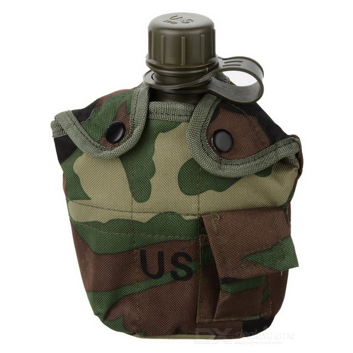 Portable Outdoor Bottle w/ Lunch Box - CamouflageForm  ColorCamouflageQuantity1 DX.PCM.Model.AttributeModel.UnitMaterialUS high polymer material (non-toxic and no smell)Best UseFamily &amp; car camping,Camping,Mountaineering,Travel,Others,Fishing,Outdoor kettleTypeCups &amp; MugsPacking List1 x Bottle<br>