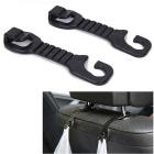 ZIQIAO voiture Retour Têtière Seat Holder Crochet pour Purse Bag - Black (2PCS)
