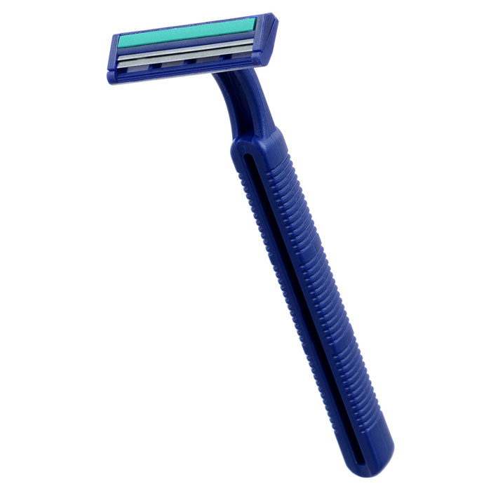 Buy Stainless Steel 2 Razor Blade Refills Men's Razor - Blue (1 PCS) with Litecoins with Free Shipping on Gipsybee.com