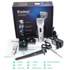 KM-39801 Electric Rechargeable Hair Trimmer / Clipper w/ Stainless Blade - Silvery Grey