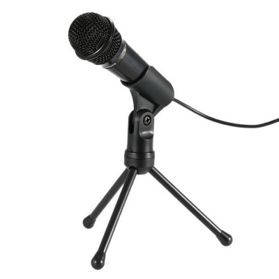 Professional 3.5mm Condenser Microphone Sound Studio Podcast w/ Stand for Skype Desktop PC Laptop