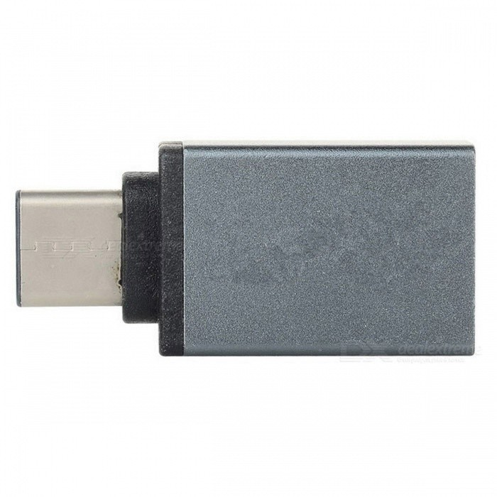 USB 3.1 Type C to USB 3.0 Adapter Converter w/ OTG - Grey Black