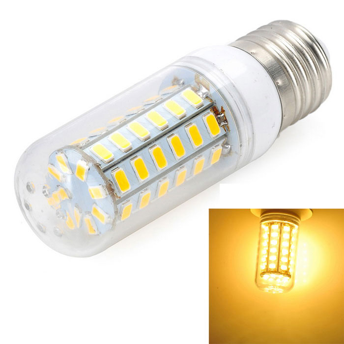 E27 10W LED Bulb Lamp Warm White Light 3000K 900lm 56-SMD 5730 - White + Yellow (AC 220~240V)E27<br>Form  ColorWhite + Yellow + Multi-ColoredColor BINWarm WhiteMaterialPC + aluminumQuantity1 DX.PCM.Model.AttributeModel.UnitPower10WRated VoltageAC 220-240 DX.PCM.Model.AttributeModel.UnitConnector TypeE27Chip TypeLEDEmitter TypeOthers,5730 SMDTotal Emitters56Actual Lumens800~900 DX.PCM.Model.AttributeModel.UnitColor Temperature3000KDimmableNoBeam Angle360 DX.PCM.Model.AttributeModel.UnitCertificationCE, RoHSPacking List1 x LED lamp<br>