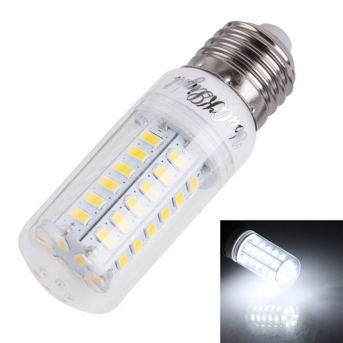 E27 10W LED Bulb Lamp Cold White Light (AC 220~240V)E27<br>Form  ColorWhite + Yellow + Multi-ColoredColor BINCold WhiteMaterialPC + aluminumQuantity1 DX.PCM.Model.AttributeModel.UnitPower10WRated VoltageAC 220-240 DX.PCM.Model.AttributeModel.UnitConnector TypeE27Chip TypeLEDEmitter TypeOthers,5730 SMDTotal Emitters56Actual Lumens800~900 DX.PCM.Model.AttributeModel.UnitColor Temperature6000KDimmableNoBeam Angle360 DX.PCM.Model.AttributeModel.UnitCertificationCE, RoHSPacking List1 x LED lamp<br>