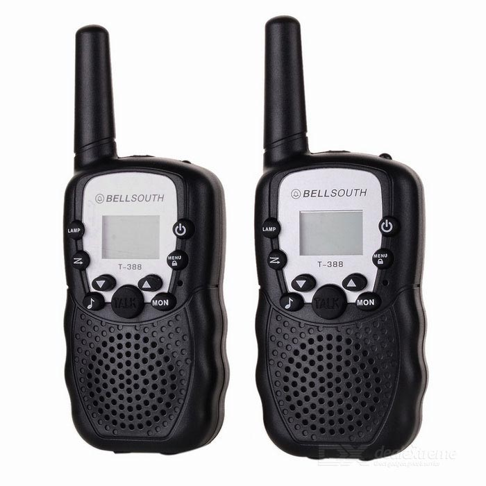 Walkie Talkie w/ 5 to 8KM Range, 22 USA Channels, Keypad Lock