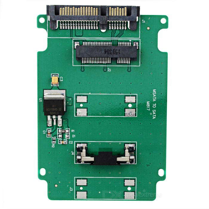 MSATA / SATA Adapter Card - Vihreä + musta + Multicolor