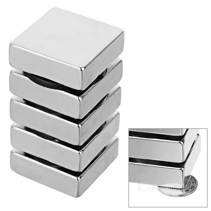 30*30*10mm NdFeB Rectangular Magnet - Silver (5PCS)Magnets Gadgets<br>Form ColorSilver WhiteMaterialNdFeBQuantity1 SetNumber5Suitable Age 5-7 Years,8-11 Years,12-15 Years,GrownupsPacking List5 x Magnets<br>
