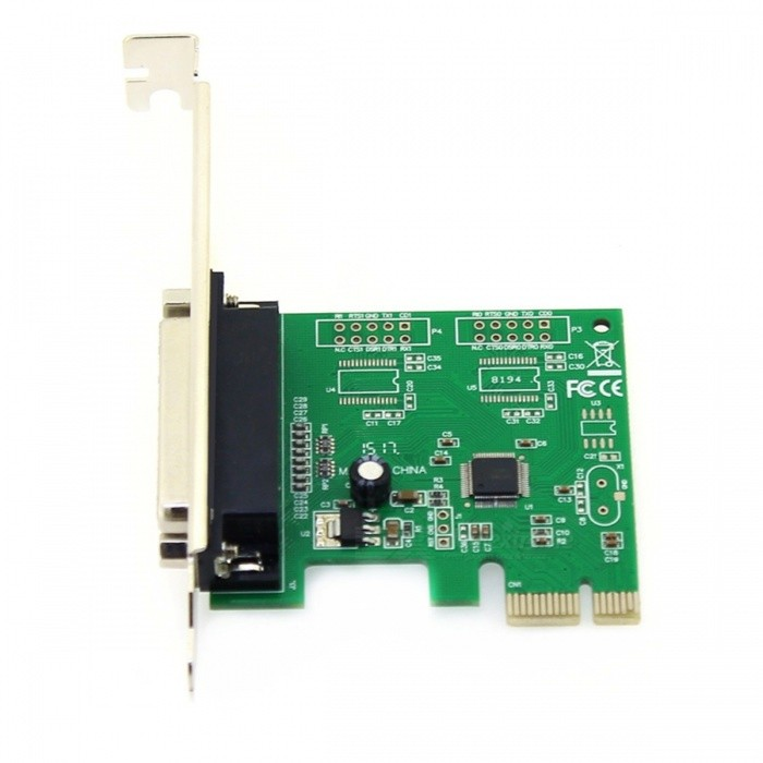 Buy PCI-E to Parallel Interface Expansion Card Adapter - Green + Black with Litecoins with Free Shipping on Gipsybee.com