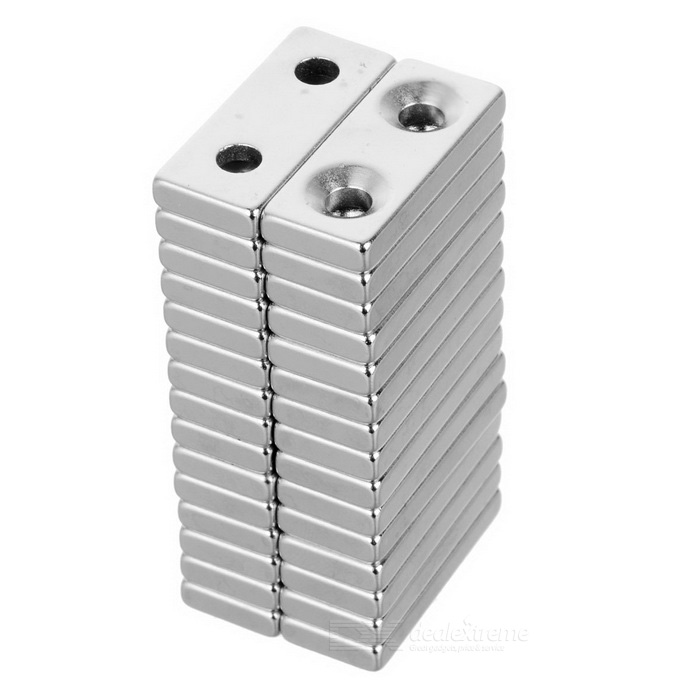 28*12*4mm Square NdFeB Magnet w/ 4mm Holes - Silver (30PCS)Magnets Gadgets<br>Form  ColorSilver - 30PCSMaterialNdFeBQuantity1 DX.PCM.Model.AttributeModel.UnitNumber30Suitable Age 5-7 years,8-11 years,12-15 years,Grown upsPacking List30 x Magnets<br>