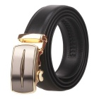 Fanshimite D06 Men's Automatic Buckle Leather Belt - Black (130cm)