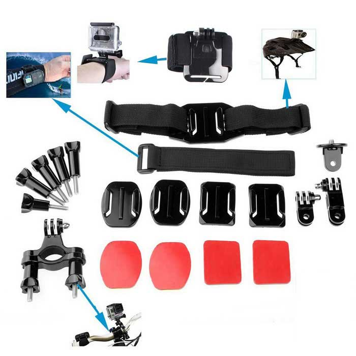 20-in-1 Sports Camera Accessories Kit
