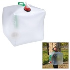 Outdoor Folding Bucket for Cycling / Fishing - White + Green (20L)
