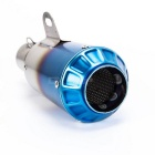 Motorcycle Modification Exhaust Pipe w/ Soldering Interface - Blue + Silver
