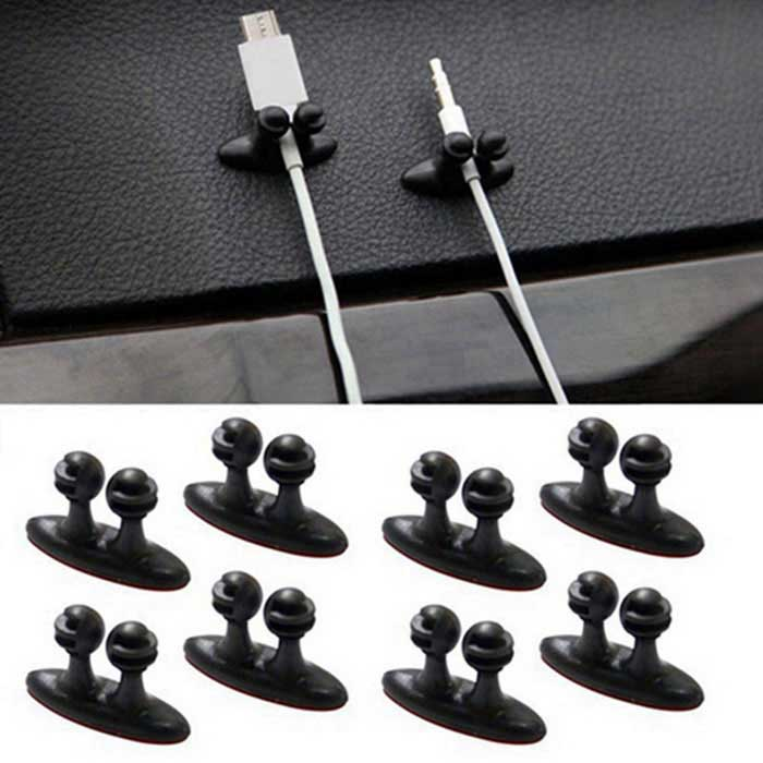 Car Charger Cable Headphone / USB Cable Clamps Organizer (8PCS)