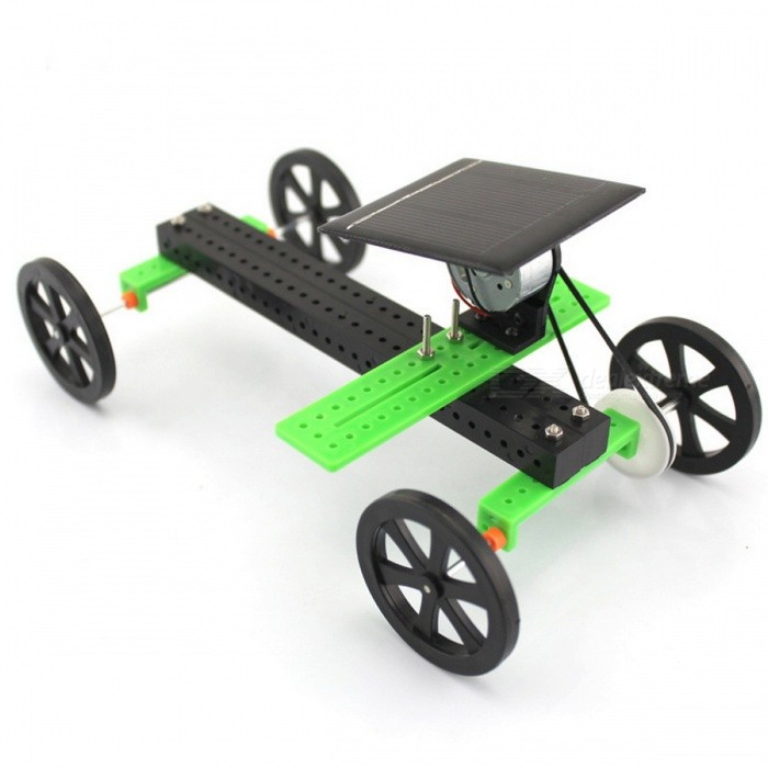 Buy Manual DIY Educational Assembled Solar Powered Car Model Toy - Black with Litecoins with Free Shipping on Gipsybee.com