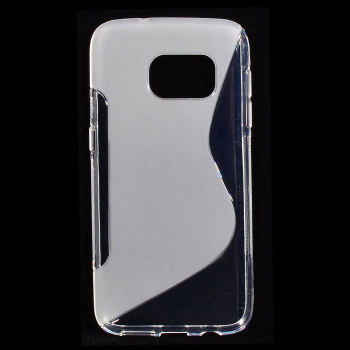 """""""s"""" style protective tpu back case for samsung galaxy s7 - transparent"""