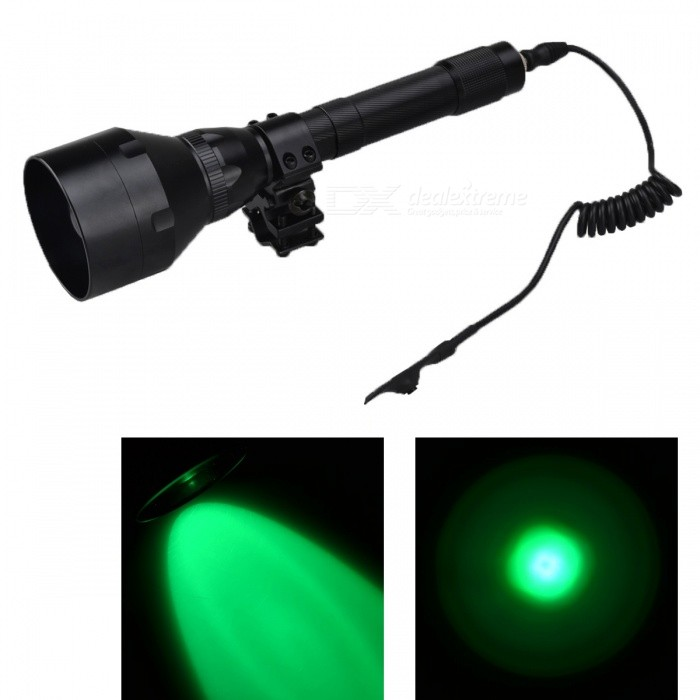 RichFire SF-390G Green 3 Mode CREE XPE G4 R2 LED Flashlight w/ Pressure Switch Black