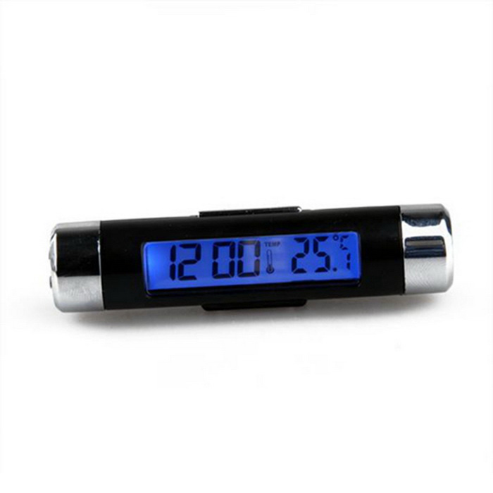 Buy ZIQIAO K01 Car Automotive Thermometer Clock Calendar - Black +Silver with Litecoins with Free Shipping on Gipsybee.com