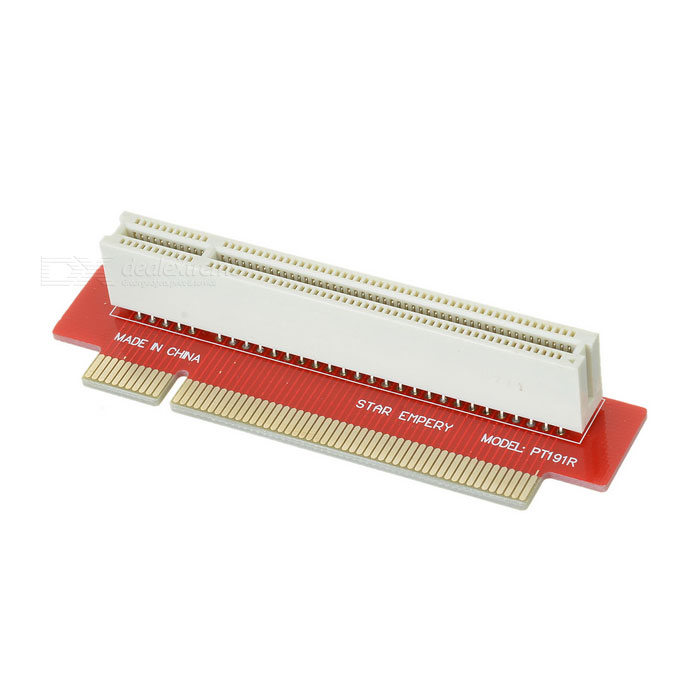 90-Degree Right-Angle PCI-E Adapter - RedForm  ColorRedQuantity1 DX.PCM.Model.AttributeModel.UnitMaterialPCPacking List1 x Adapter<br>