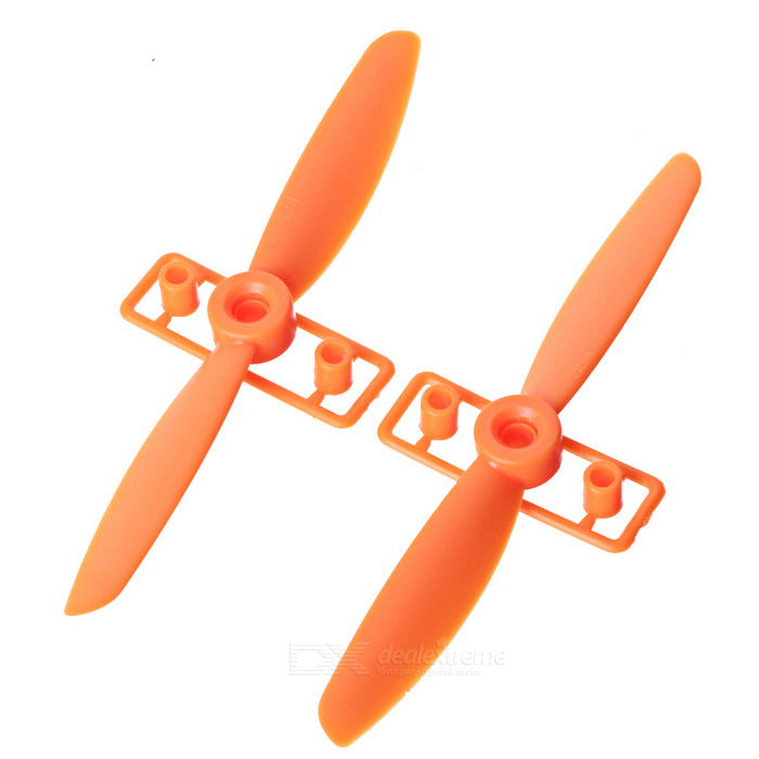 DIY CW & CCW Propellrar för FPV Quadcopter - Orange (par)