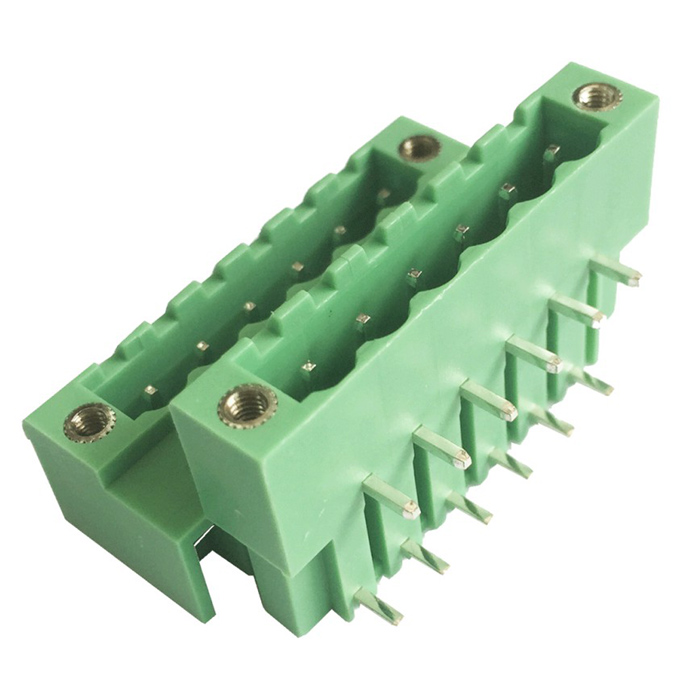 HZDZ 6-Pin 5.0mm Bilayer Binding Post Terminals - Green