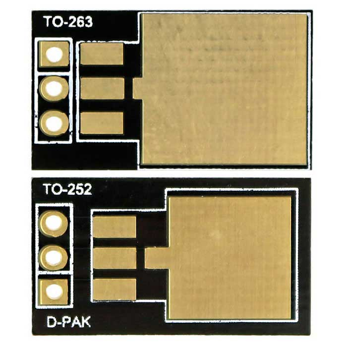 TO263/TO252 to DIP 78M05/IR3205 Adapter Board - Black + Golden (2PCS)