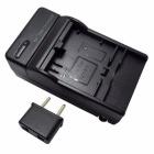 US Plug Camera Battery Charger + EU Plug Adapter for AZ13-1 - Black