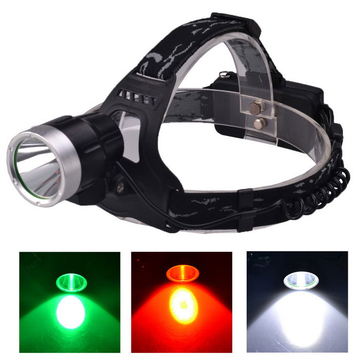 RichFire SF-649G USB Green LED Headlamp - Black + Silver (2*18650)Headlamps<br>Form  ColorBlack + SilverModelSF-649GQuantity1 DX.PCM.Model.AttributeModel.UnitMaterialAluminum alloyEmitter BrandOthers,N/ALED TypeXP-EEmitter BINR3Color BINGreenNumber of Emitters1Working Voltage   5 DX.PCM.Model.AttributeModel.UnitPower Supply2*18650 Li-ion batteries (included)Current1 DX.PCM.Model.AttributeModel.UnitTheoretical Lumens300 DX.PCM.Model.AttributeModel.UnitActual Lumens250 DX.PCM.Model.AttributeModel.UnitRuntime3 DX.PCM.Model.AttributeModel.UnitNumber of Modes3Mode ArrangementHi,Mid,LowMode MemoryNoSwitch TypeReverse clickySwitch LocationTailcapLensGlassReflectorAluminum SmoothBand Length50 DX.PCM.Model.AttributeModel.UnitCompatible Circumference47~75cmBeam Range200 DX.PCM.Model.AttributeModel.UnitOther FeaturesHard anodizingCertificationCE / RoHSPacking List1 x Headlamp with strap2 x 18650 Li-ion batteries1 x 5V USB charging adapter (Input: 100~240V, 50/60Hz, Output: 5V /1A; 2-flat-pin plug)1 x 5V USB cable (81cm)1 x R2-N4 red light LED lamp holder1 x XP-E R2 white light LED lamp holder1 x Gift box1 x English user manaul<br>